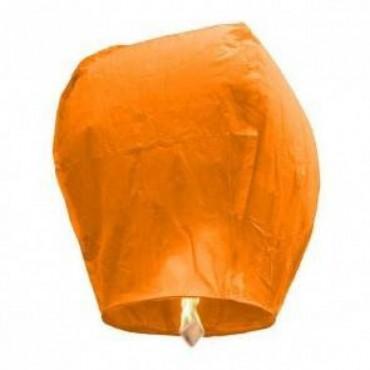 Lanternes volantes oranges