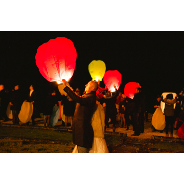 Lanternes volantes coeurs