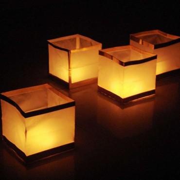 3 Lanternes flottantes CUBE...