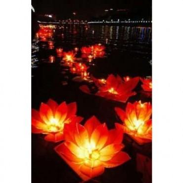6 Lanternes flottantes FLEURS