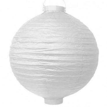 Lanterne chinoise lumineuse - 30 cm (Couleurs: Blanc)