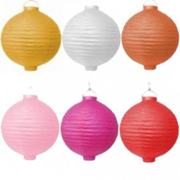 20 cm Lampion COLORÉE lumineux LED