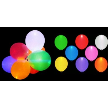 Lot de 5 Ballons Lumineux à LED