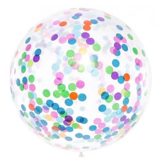 Ballon géant confettis 1m