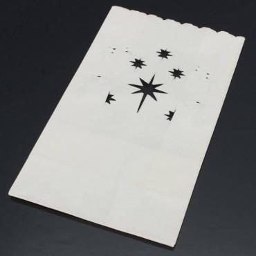 Sacs lumineux à bougie (motif étoile)