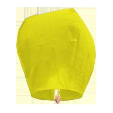 Lanternes volantes jaunes