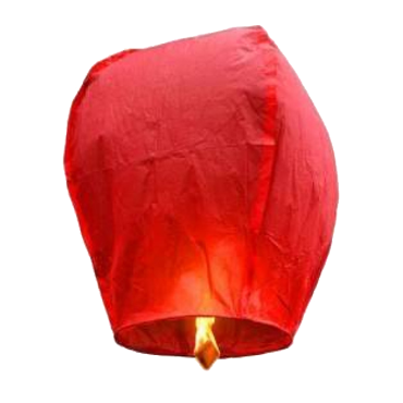 Lanternes volantes rouge